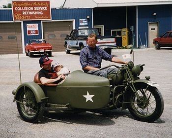 Indian Scout with sidecar Canadian army WWII