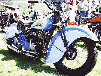 Indian Scout motorcycle 1940
